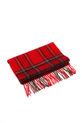100% WOOL SCARF RED/NAVY