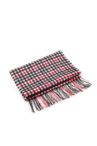 100% WOOL SCARF RED/BLACK