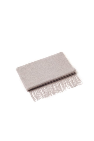 100% WOOL SCARF LIGHT GREY