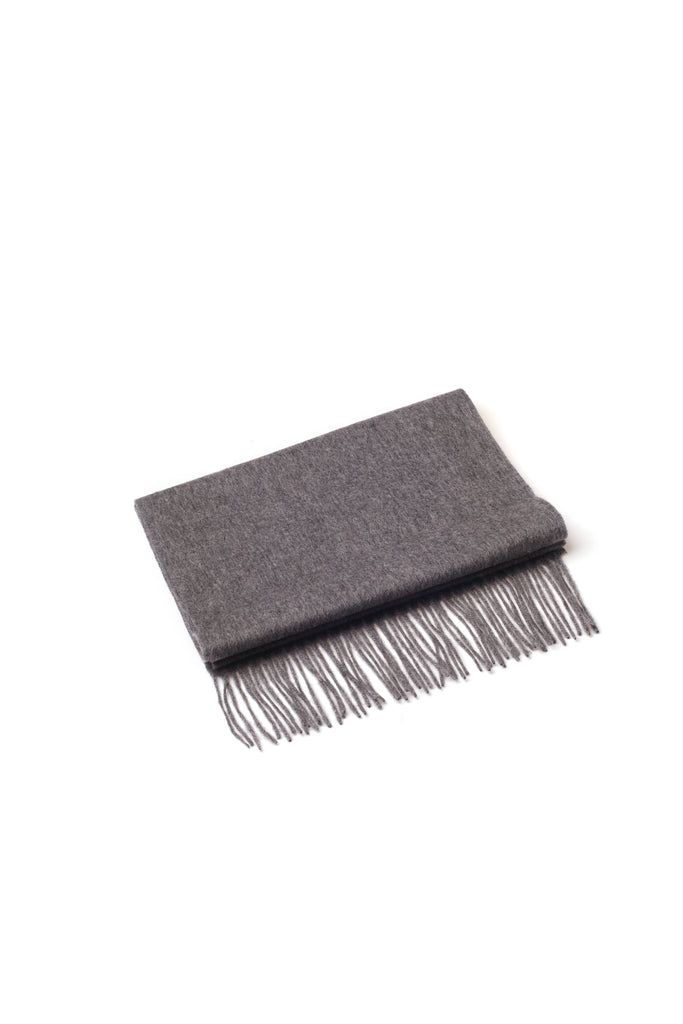 100% WOOL SCARF DARK GREY