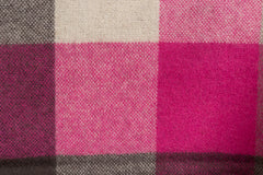 100% WOOL SCARF PINK/SAND CHECK