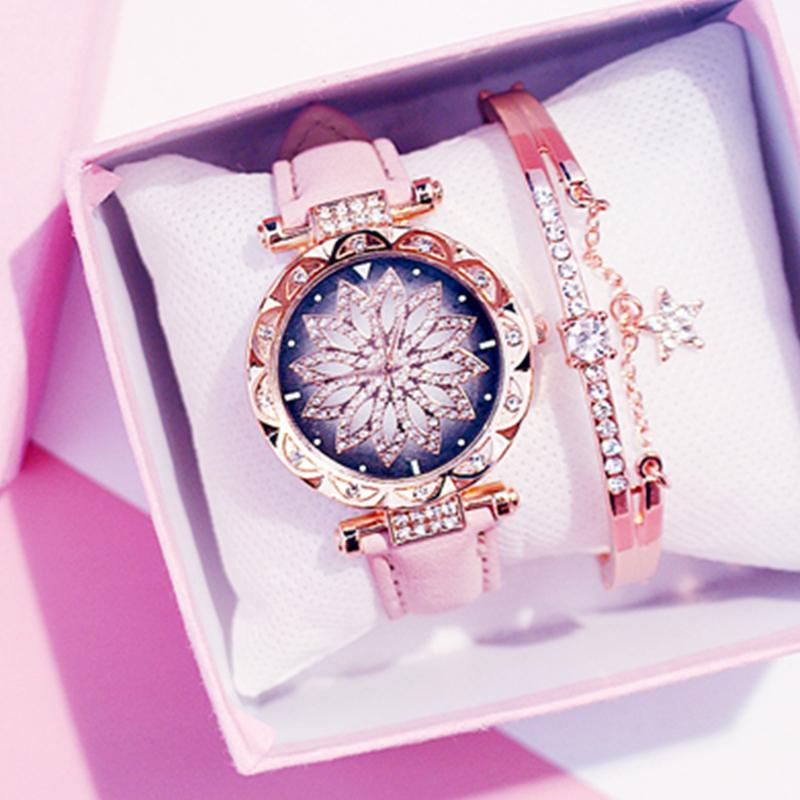 Starry Sky Watch Rose Gold Diamond Watches