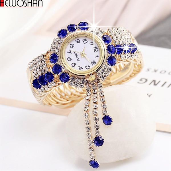 2019 Top Brand Luxury Rhinestone Bracelet Watch
