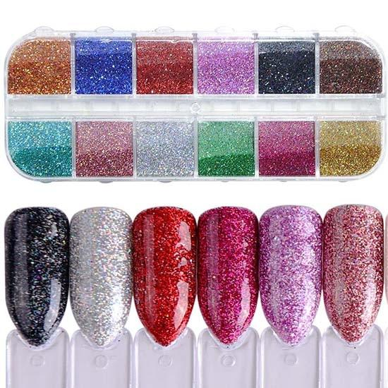 1 Set Mixed Color 3D Ultrathin Sequins Nail