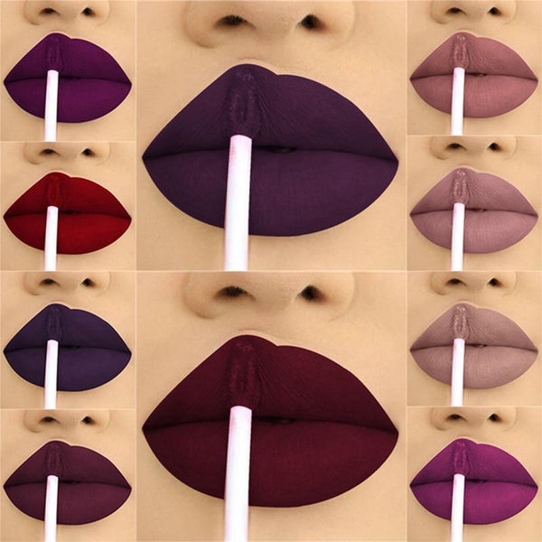 24 Color Waterproof Liquid Long Lasting Gloss Lipstick