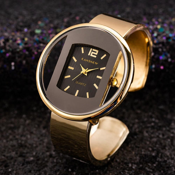 Gold Silver Bracelet Watch
