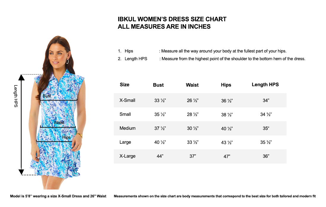 IBKUL Sleeveless Polo Dress in Print