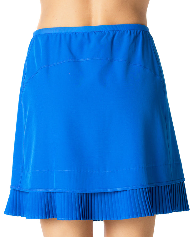 "Solid Crystal Pleat Skort 18"" - 24000 Royal Blue - Back"