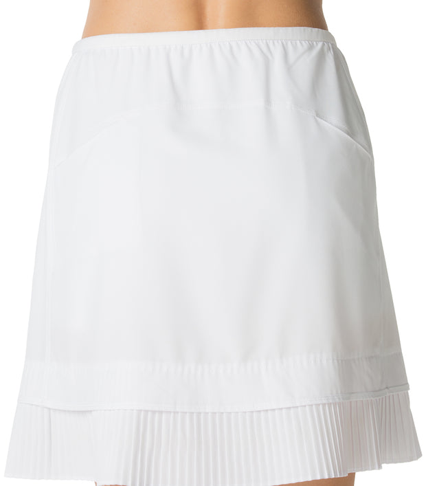 "Solid Crystal Pleat Skort 18"" - 24000 White - Back"