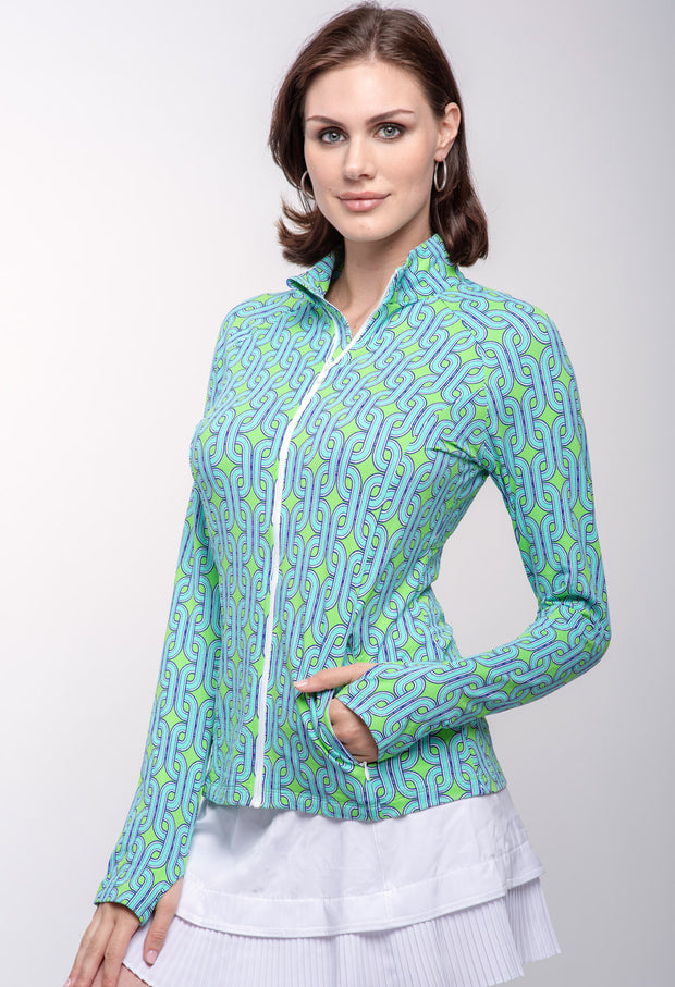 Andrea Print Knit Jacket 18176