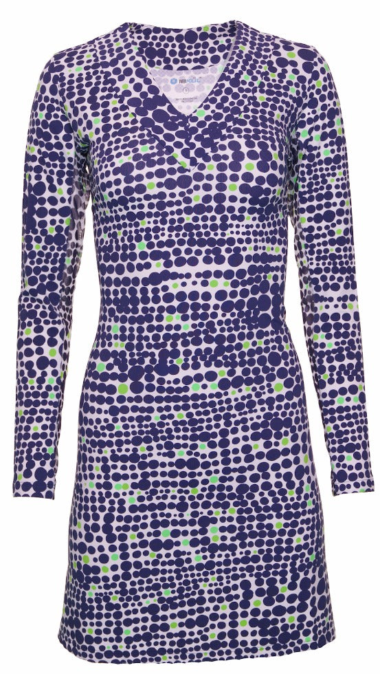 Duo Dots Print V-Neck Dress 53071