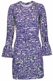 Duo Dots Print Bell Sleeve Dress 55071