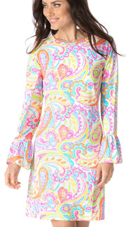 Pippa Print Bell Sleeve Dress 55968 - final sale