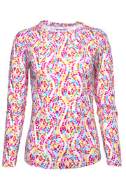 Birthday Cake Print Long Sleeve Crew Neck - 12283
