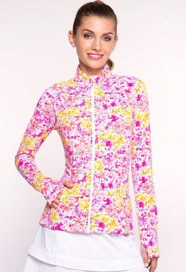 Colleen Print Knit Jacket - 18285