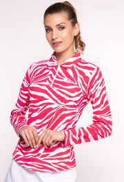 Zazu Print Long Sleeve Polo - 41291