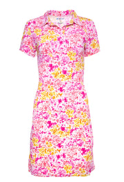 Colleen Print Short Sleeve Polo Dress - 51285