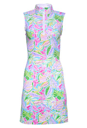 Casey Print Sleeveless Mock Neck Dress - 56284