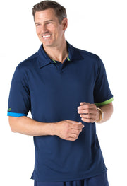 Short Sleeve Polo w/ Mesh Back & Contrast Color Sleeve Hem - 94004 (Modern fit)