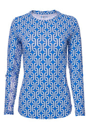 Andrea Print Crew Neck Top 12176