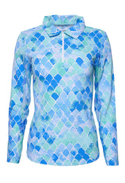 Ariel Print Long Sleeve Polo 11177