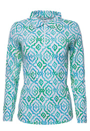 Hollie Print Long Sleeve Polo 11179