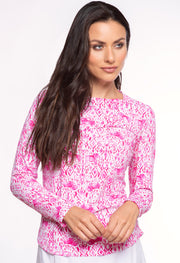 Kendra Print Crew Neck Top 12180