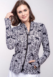 Kendra Print Knit Jacket 18180
