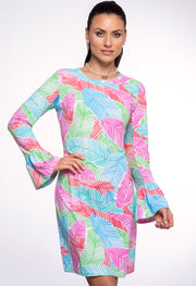 Marley Print Bell Sleeve Dress 55181