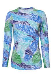Marley Print Crew Neck Top 12181