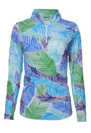 Marley Print Long Sleeve Mock Neck Top 10181