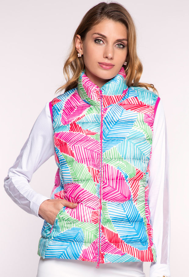 Marley Print Quilted Vest 31181