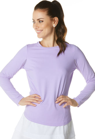 lpga teaching professional gia liwski ibkul lavender top