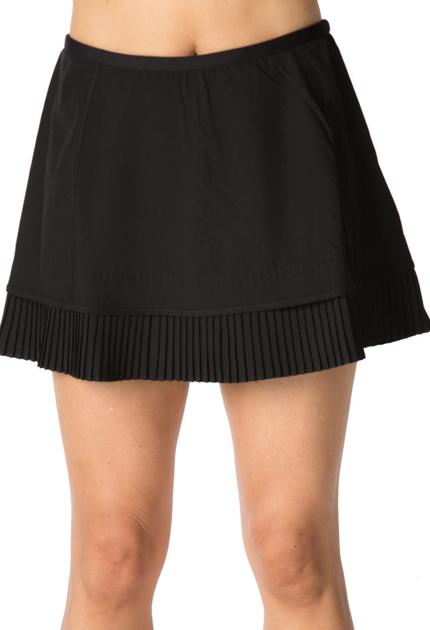 "Solid Crystal Pleat Skort 13"" - 22000"