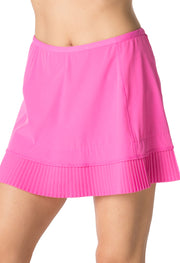 Solid Crystal Pleat Skort 13""