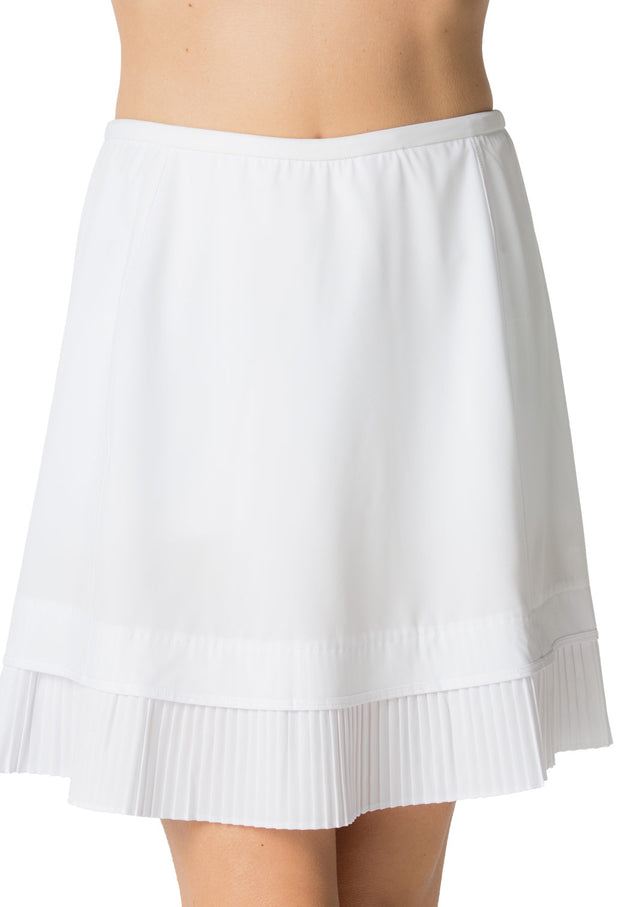 "Solid Crystal Pleat Skort 18"" - 24000 White - Front"