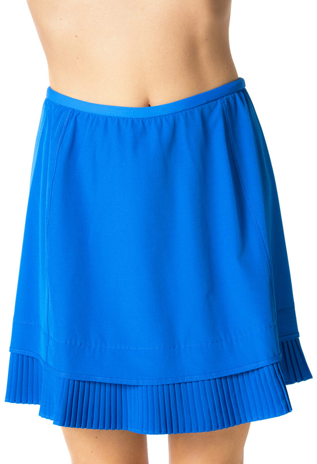 "Solid Crystal Pleat Skort 18"" - 24000 Royal Blue - Front"