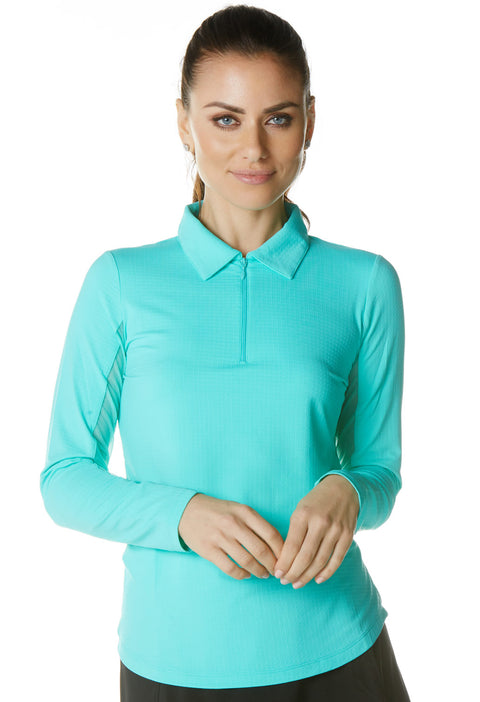 Solid Long Sleeve Polo 81000
