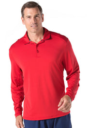 Solid Long Sleeve Polo 91000