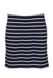 Stripe Skort with Contrast Invisible Pocket Zips 66000