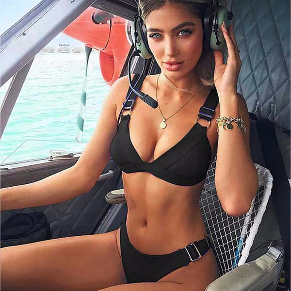 2019 sexy thong swimsuit women push up bikini high cut bikini set - Kessuavo