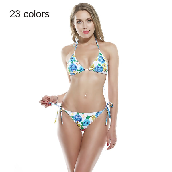 2019 fashion swimwear sexy print bikini women push up thong Swimsuit micro bikini Set female padded bathing Suit - Kessuavo