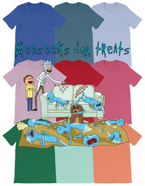 Meeseeks Dog Treats - Bold Colors T-Shirt