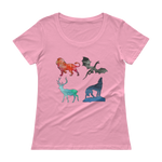 Watercolor Animals - Bold Colors Women's T-Shirt