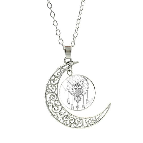 Collier Attrape Rêve <br> Hibou - le-monde-des-attrapes-reves