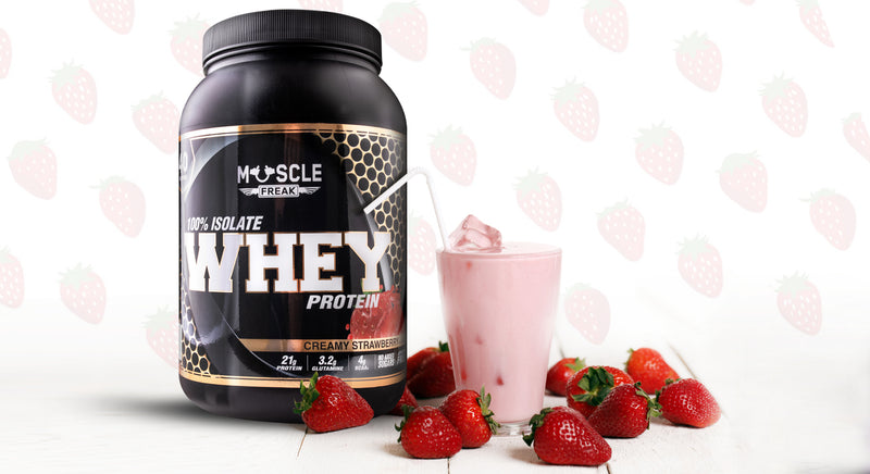 Muscle Freak whey smoothie