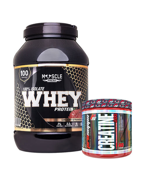 Muscle Freak 100% Isolate Whey Protein + GRATIS PS Creatine 200