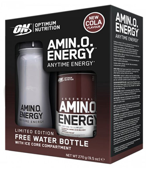 Optimum Nutrition Amino Energy Cola 270g + Ice Core Shaker - Muscle Freak