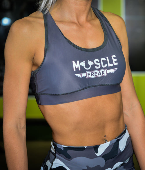 "Muscle Freak Fitness Top ""Grey"" - Muscle Freak"