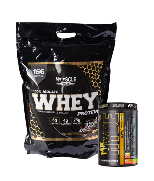 Muscle Freak 100% Isolate Whey Protein 5kg + Prosupps Hyde ICON -30%